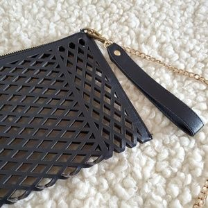 NEW die cut lattice crossbody purse